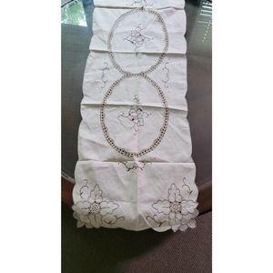 Embroidered/Crochet Battenburg Table Runner